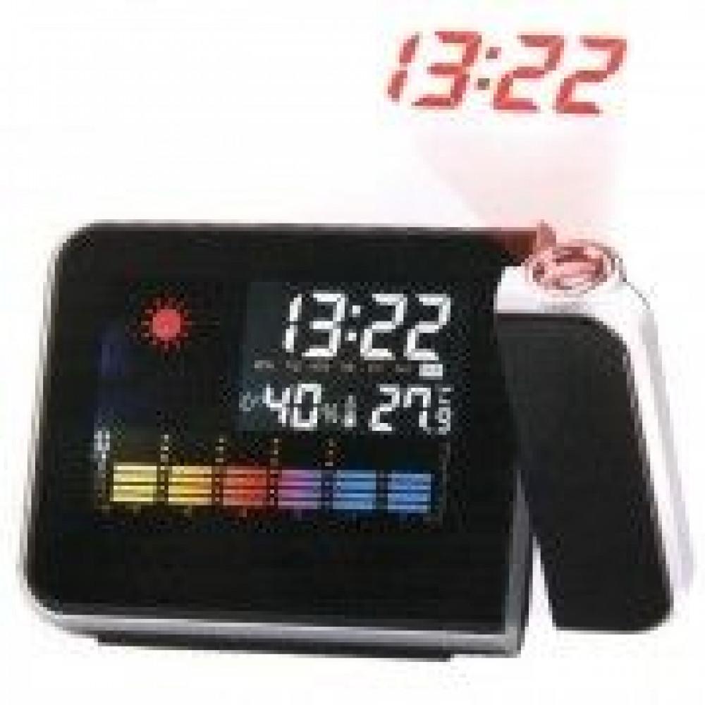 Часы метеостанция с проектором 8190 Weather station projection clock