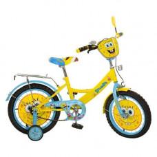 """Велосипед детский желтый двухколёсный 16"""" """"Спанч Боб"""""""