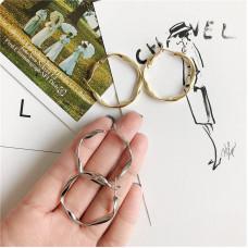 """Серьги Collection """"Закрученное кольцо """" цвет серебро"""