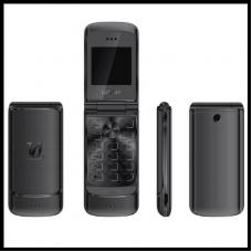 Флип-телефон Ulcool V9, 1,54 дюймов, две sim-камеры, MP3, Bluetooth, FM, анти-потеря, металлический корпус черный