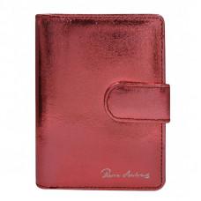 Кожаный кошелек Pierre Andres N509-METALLIC красный