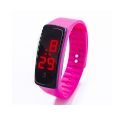 Наручные LED 555 часы браслет розовый