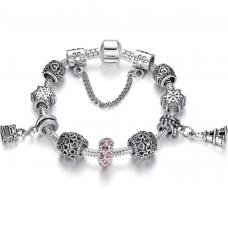 Женский браслет Fench Silver Plated GL Heart Cеребристый (AJ_PS375018)