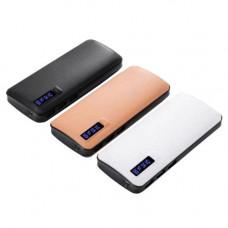 Power Bank JS-88 UNIVERSAL 20000mAh 3USB(1A+2A+3A), цифровой индикатор заряда, фонарик 1LED(8000mAh)