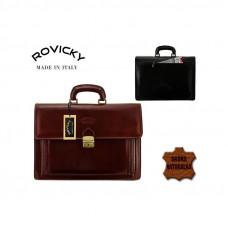 Портфель натуральная кожа производство Rovicky Италия  коричневый