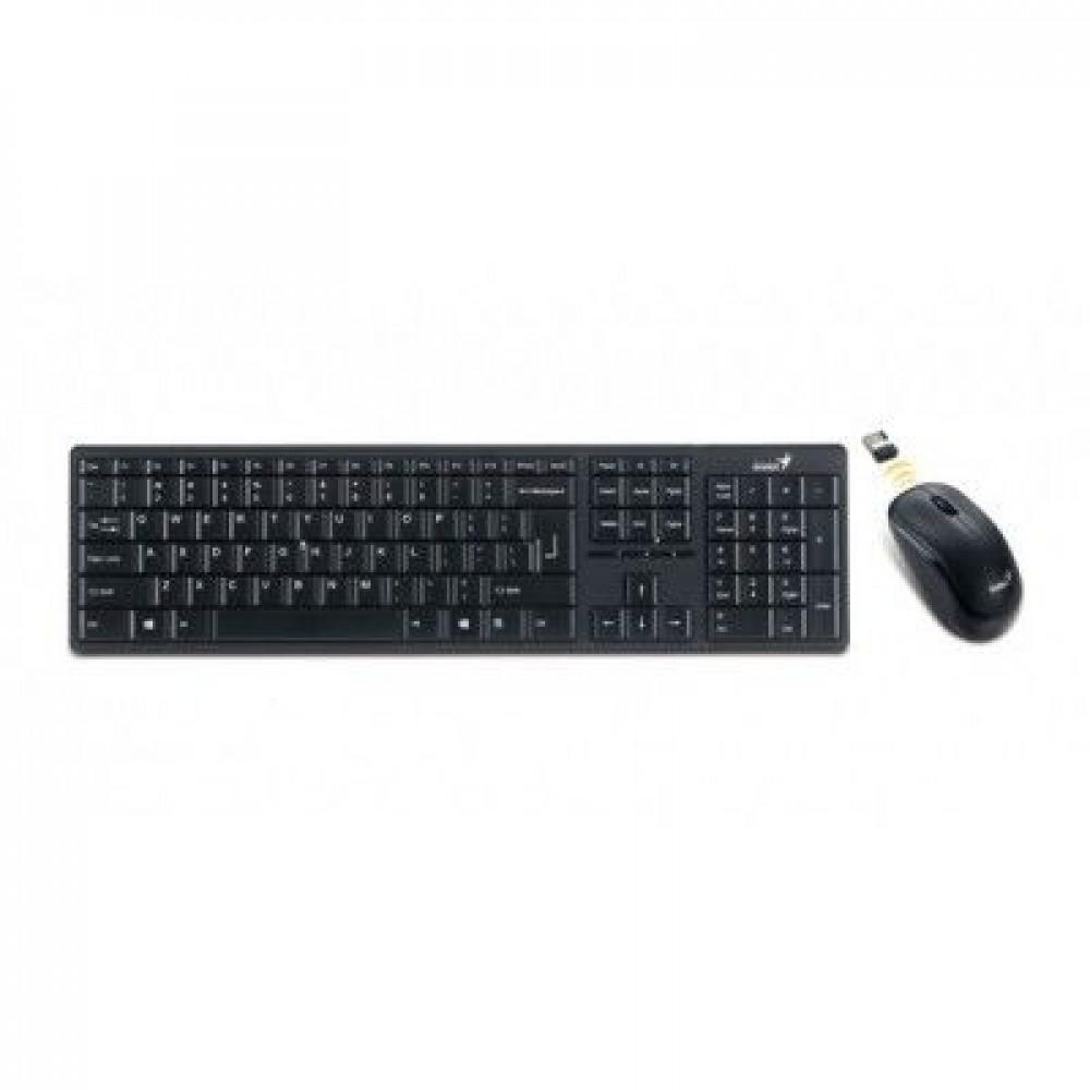 Беспроводная Клавиатура+мышь Genius Slimstar 8000ME USB Black