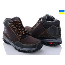 Ботинки Lvovbaza Ankor Б11 коричнево- серые