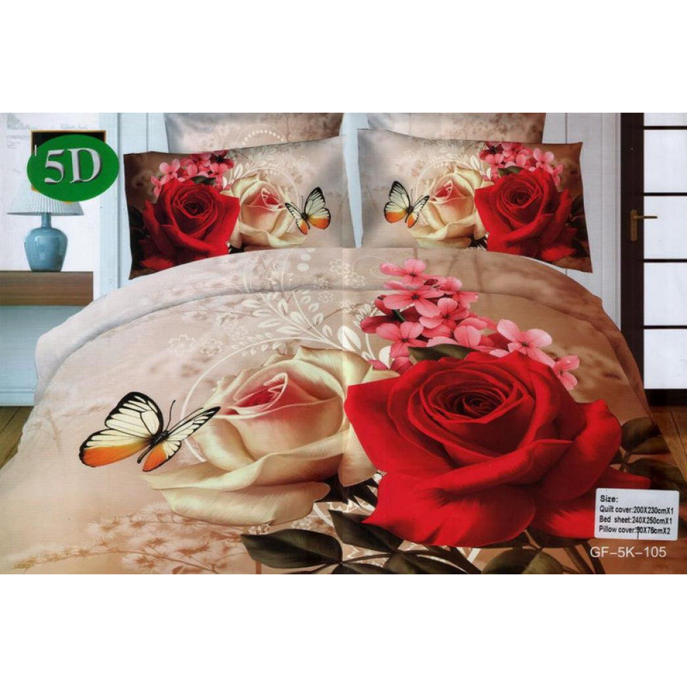 Комплект постельного белья (евро-размер) - № 511