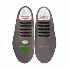 Силиконовые шнурки для кожаной обуви Coolnice Classic 5+5 Black (n-321)