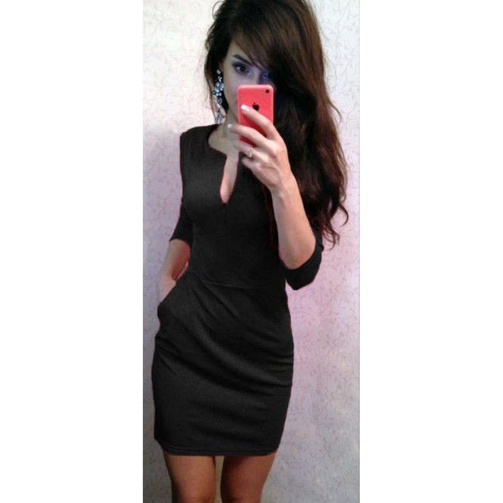 Модное женское платье облегающего силуета код: 807