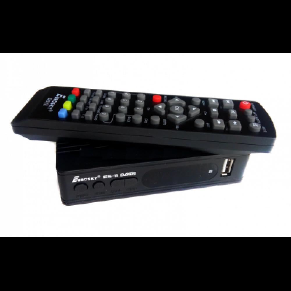 DVB Т2 тюнер для цифрового тв Eurosky ES-11