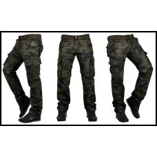 Мужские брюки карго, хаки + ремень в подарок