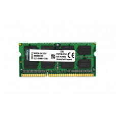 Оперативная память Kingston SODIMM DDR3L-1600 4Gb PC3-12800 (KVR16LS11/4) (1.35V)
