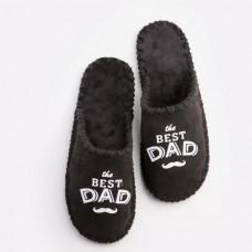 Мужские домашние тапочки Family Story The Best Dad 42-43 Черный (n0101019-43fw)