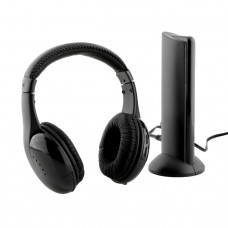 Наушники беспроводные Wireless 5 в 1 + FM радио Black (000260)