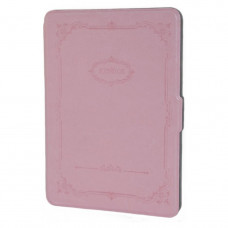 Retro Pattern Leather Case for Kindle 6 Pink