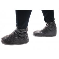 Бахилы для обуви от дождя снега грязи 2Life XL многоразовые с молнией и шнурком-утяжкой Black (n-402)