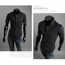 Рубашка мужская классическая (черная) M-XXL код 59