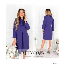 Женское повседневное платье -фиолетовый