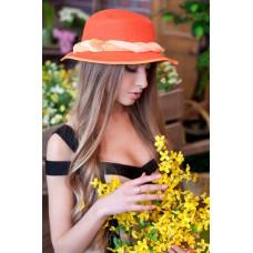 Шляпа-панама «Мелиса» (ярко-оранжевый) Braxton