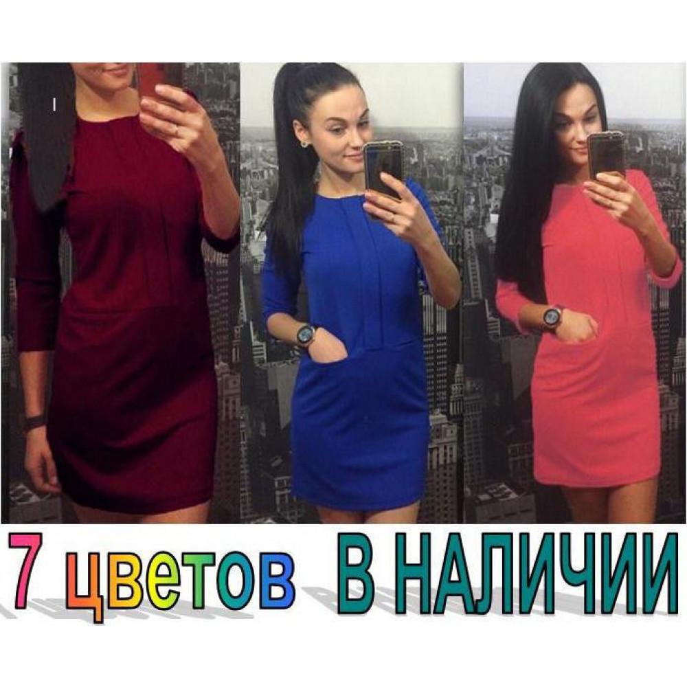 Неповторимое женское платье в 7 цветах код: 822