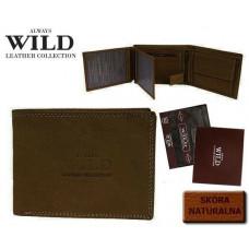 Стильный кожаный мужской кошелек ALWAYS WILD