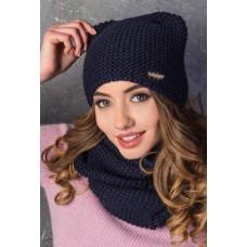 Стильная зимняя шапка на флисе