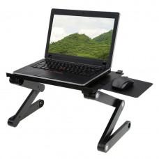 Столик трансформер для ноутбука Laptop Table T8 Черный (101009)