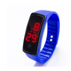 Наручные LED 555 часы браслет синий