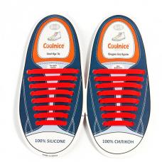 Силиконовые шнурки Coolnice В01 Red (n-316)
