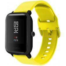 Ремешок BeWatch New силиконовый 20мм для Xiaomi Amazfit BIP | GTS | GTR 42 Желтый (1012320)