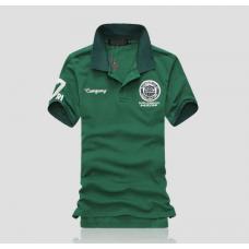 Мужская футболка с воротником  код 66 (зеленая) размер  L . XL