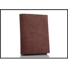 Кошелек мужской бренд Betlewski натуральная кожа Польша на молнии, коричневый