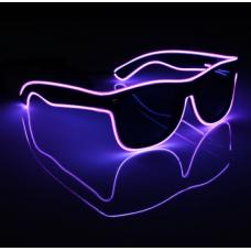 Очки светодиодные солнцезащитные El Neon ray неоновые Purple (901855651)