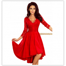 Праздничное платье с гепюровым верхом Numoco Nicolle оригинал, красное