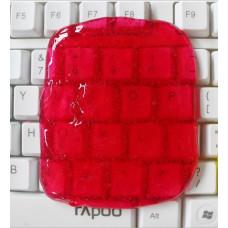 Гель-липучка для чистки клавиатуры и техники Красная (Super Clean)