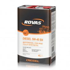 Моторное масло Rovas Diesel 10W-40 B4 полусинтетика 4л (110058)