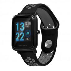 Ремешок BeWatch sport-style 20 мм для смарт-часов Xiaomi amazfit BIP Черно-Серый (1010114)