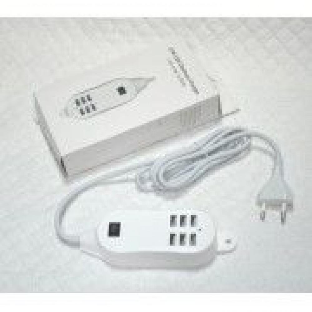 Сетевой USB HUB разветвитель 6 USB входов 220V
