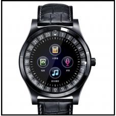 Умные смарт часы  с bluetooth Lemfo TH88 кожаный браслет СИМ+Карта памяти