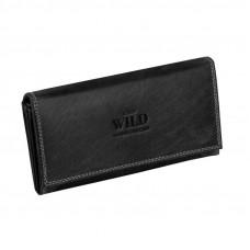 Модный женский кошелек из натуральной кожи от Always Wild (В чёрном  цвете)