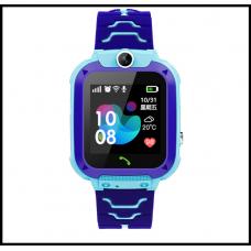 Детские смарт-часы S12 с GPS  синие IP68 Водонепроницаемые Смарт-часы  с sim-картой