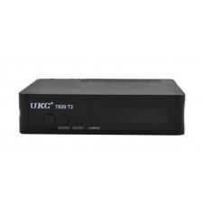 Тюнер цифровой UKC DVB-T2 7820 Черный (008094)