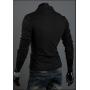 Мужская футболка длинный рукав черный цвет  M-XXXL код 41