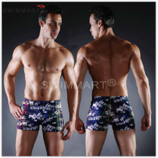 Плавки мужские купальные, трусы-боксеры для бассейна, пляжа (разноцвентый) код MS008