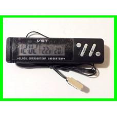 Автомобильные Часы с Термометром (ВидеоОбзор)