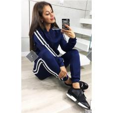 Женский спортивный костюм 42 - 48 р. Синий, зленый
