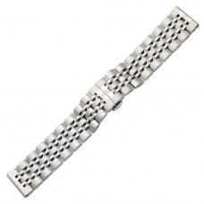 Ремешок BeWatch classic стальной Link Xtra шириной 22 мм универсальный Silver (1021405)