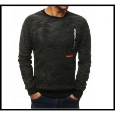 Мужской свитер на резинке m-xxl, черный, серый, синий