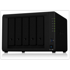 Сетевое хранилище Synology NAS с 5 отсеками DiskStation DS1019 + (бездисковый), 5 отсеков; 8 ГБ DDR3L